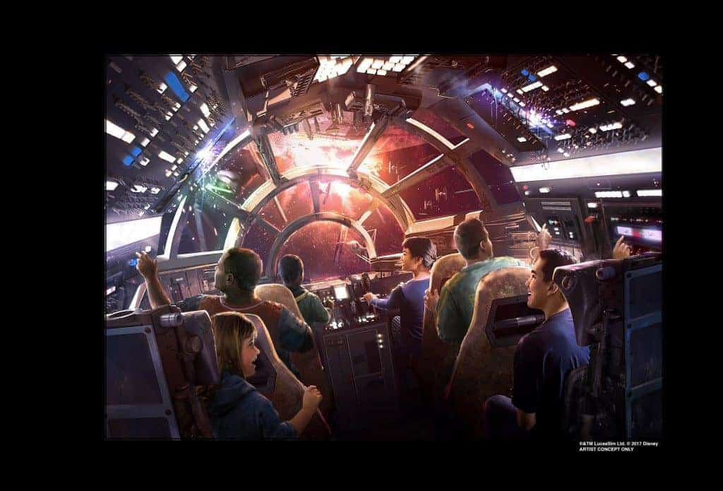 Millenium Falcon ride at Star Wars Galaxy's Edge