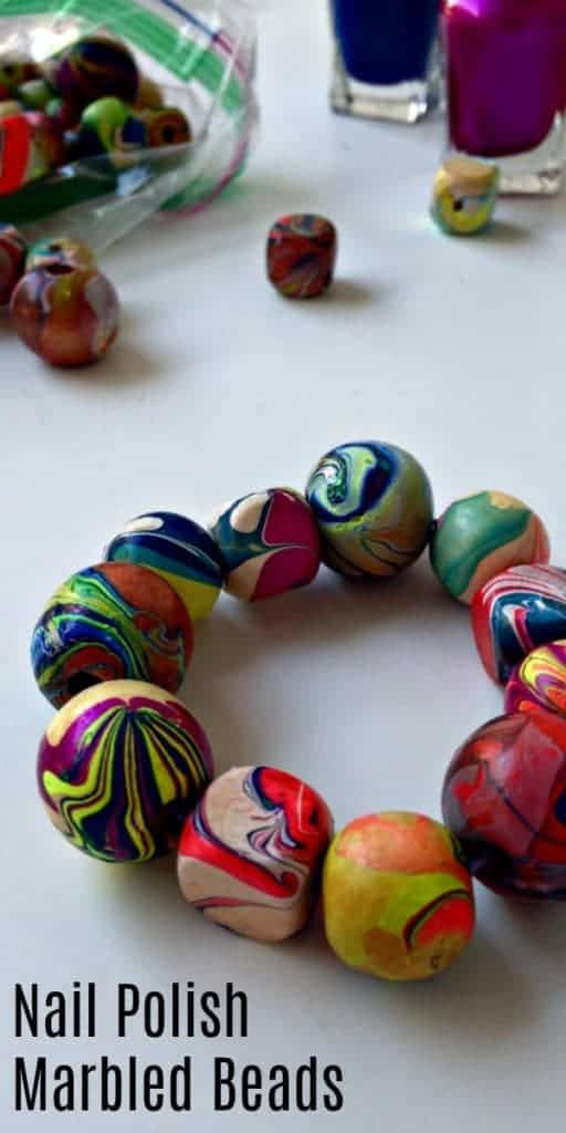 Nail Polish Marbled Beads & Bracelet DIY Craft Tutorial