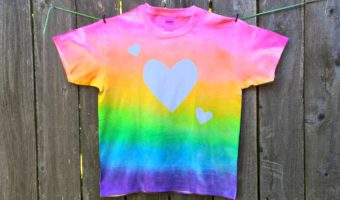 Easy Stenciled Rainbow T-shirt DIY Craft