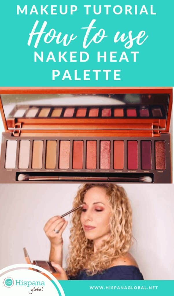 Easy makeup tutorial using Naked Heat palette