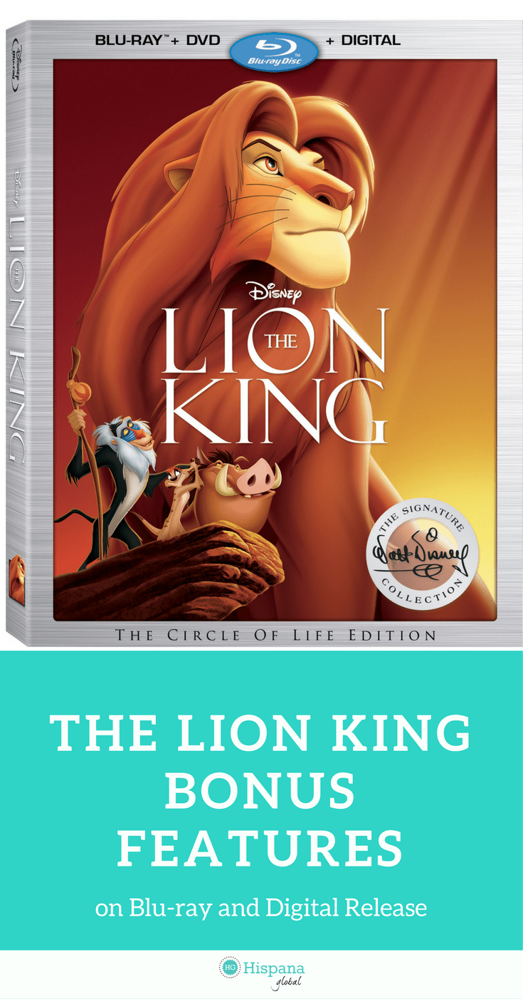 Find out what are the top bonus features on the digital and Blu-ray release of The Lion King.