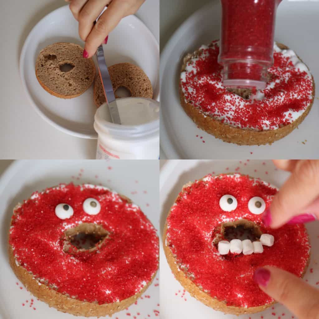 Monster bagel for Halloween
