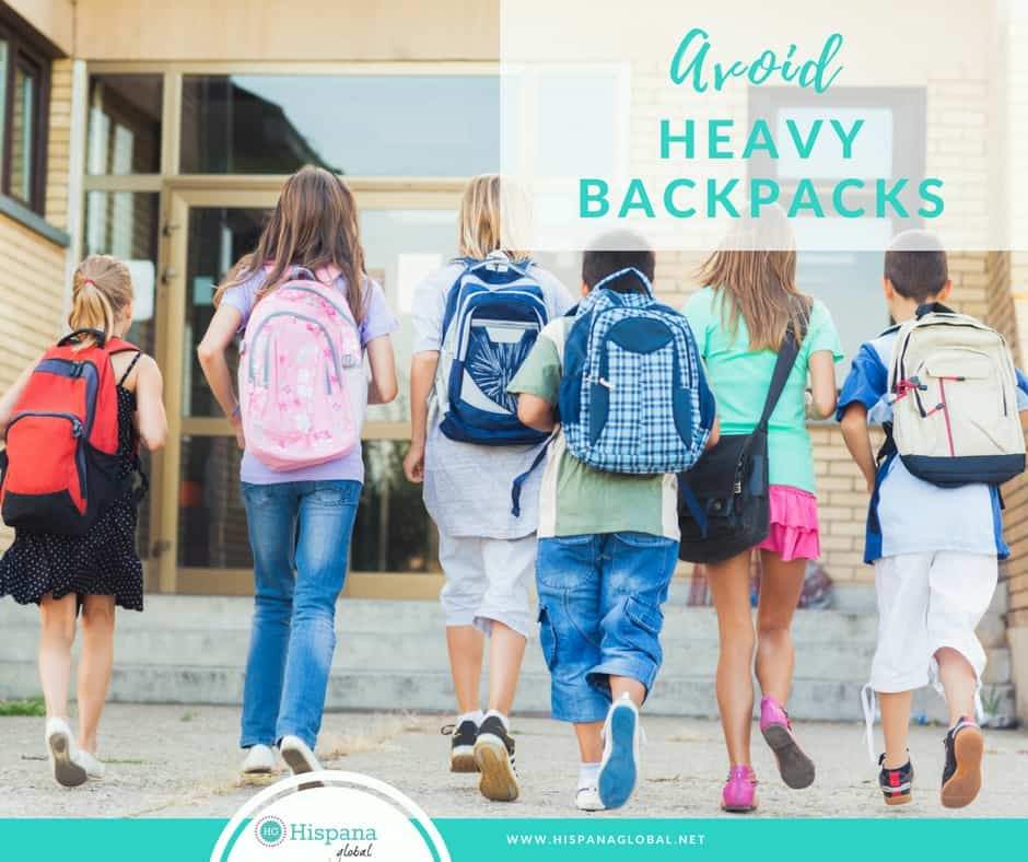 When kids carry more than 10% of their body weight in their backpacks, injuries can lead to health problems lasting into adulthood.