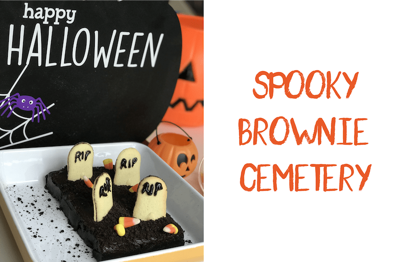 Spooky brownie cemetery for Halloween via hispanaglobal.net