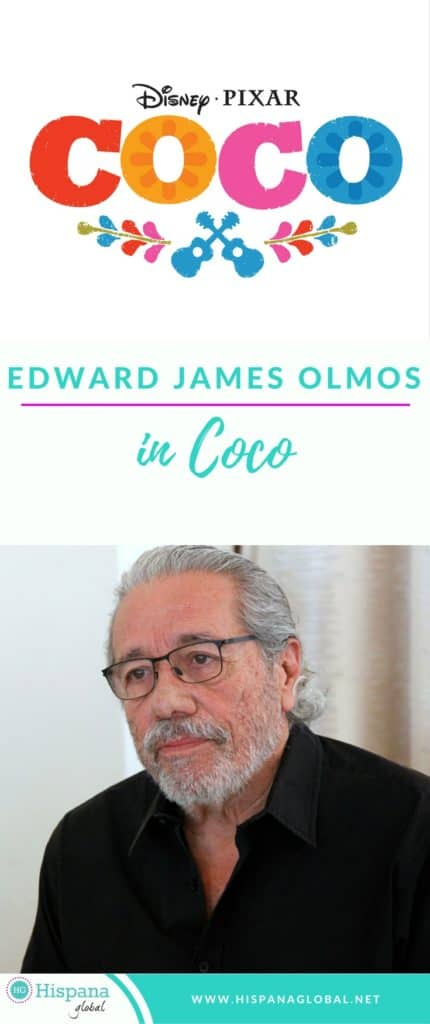 Edward James Olmos is Chicharron in Pixar Coco