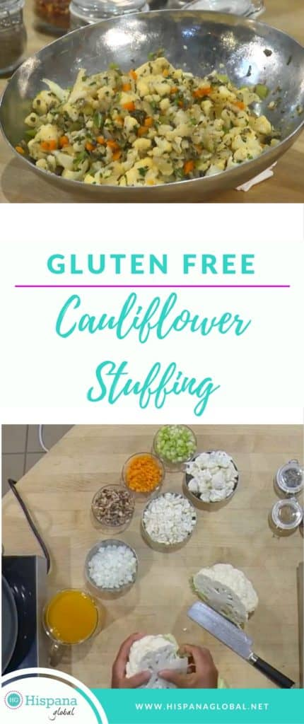 If you're looking for a tasty, healthy and gluten-free side dish for Thanksgiving, you'll love this cauliflower stuffing.