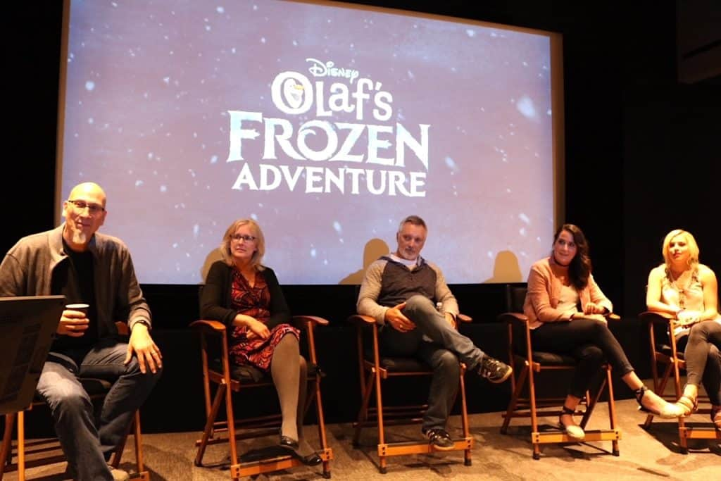 Olaf's Frozen Adventure filmmakers and songwriters