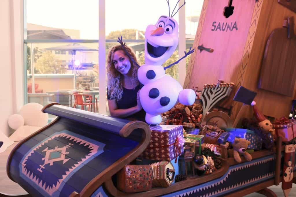 Olaf Frozen Adventure sleigh