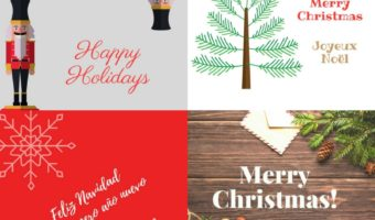 Free holiday and Christmas cards you can print at home