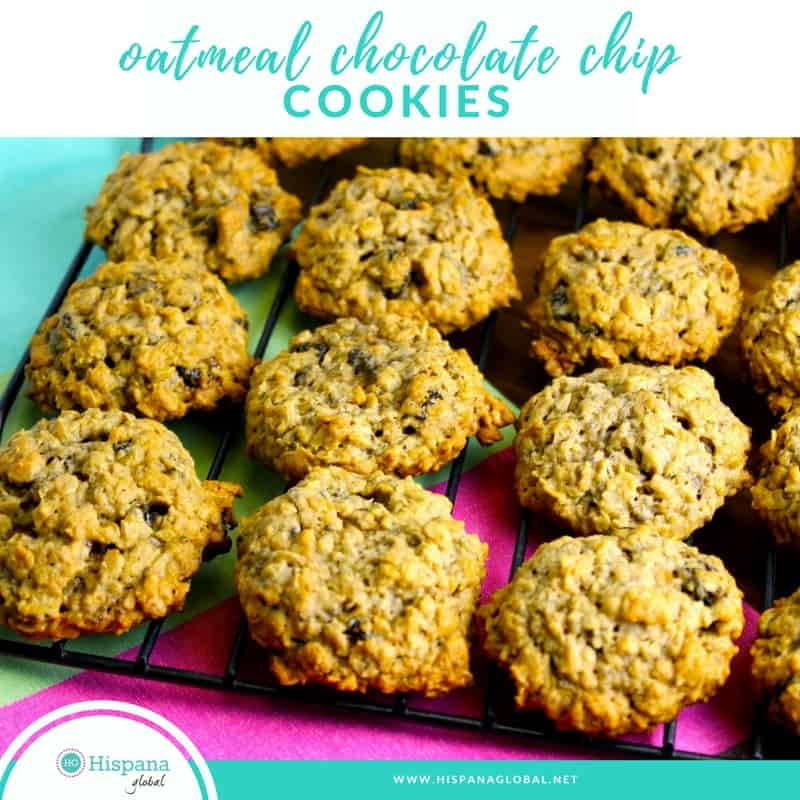 Recipe for oatmeal chocolate chip cookies