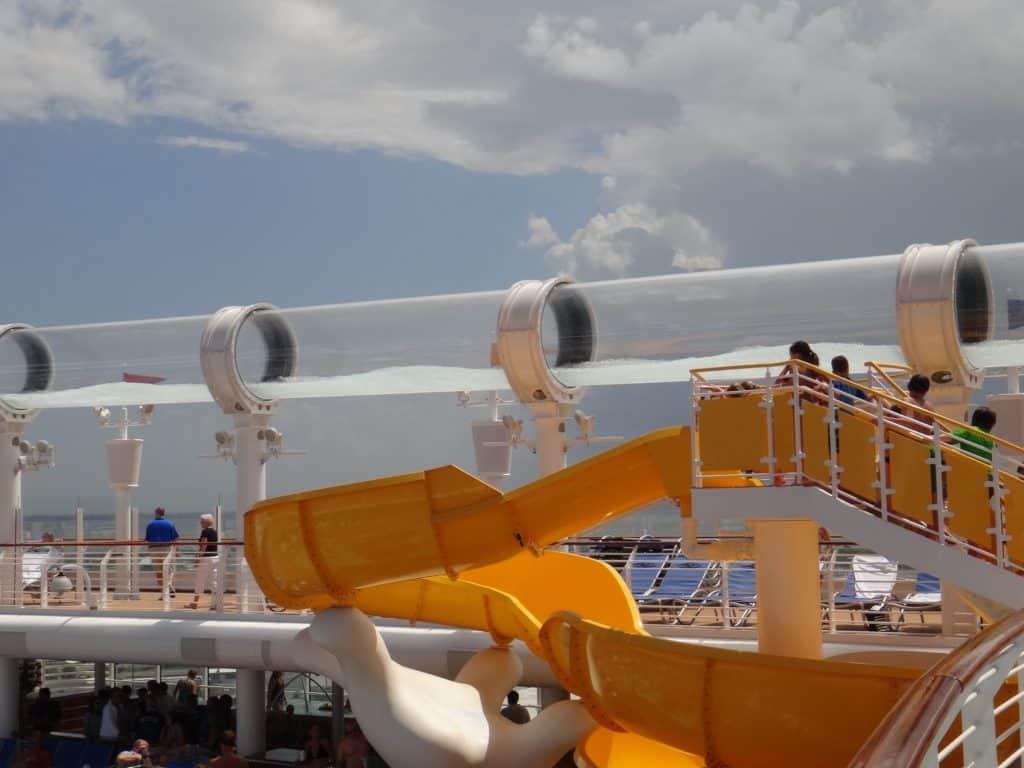 The aqua duck on the Disney Fantasy cruise