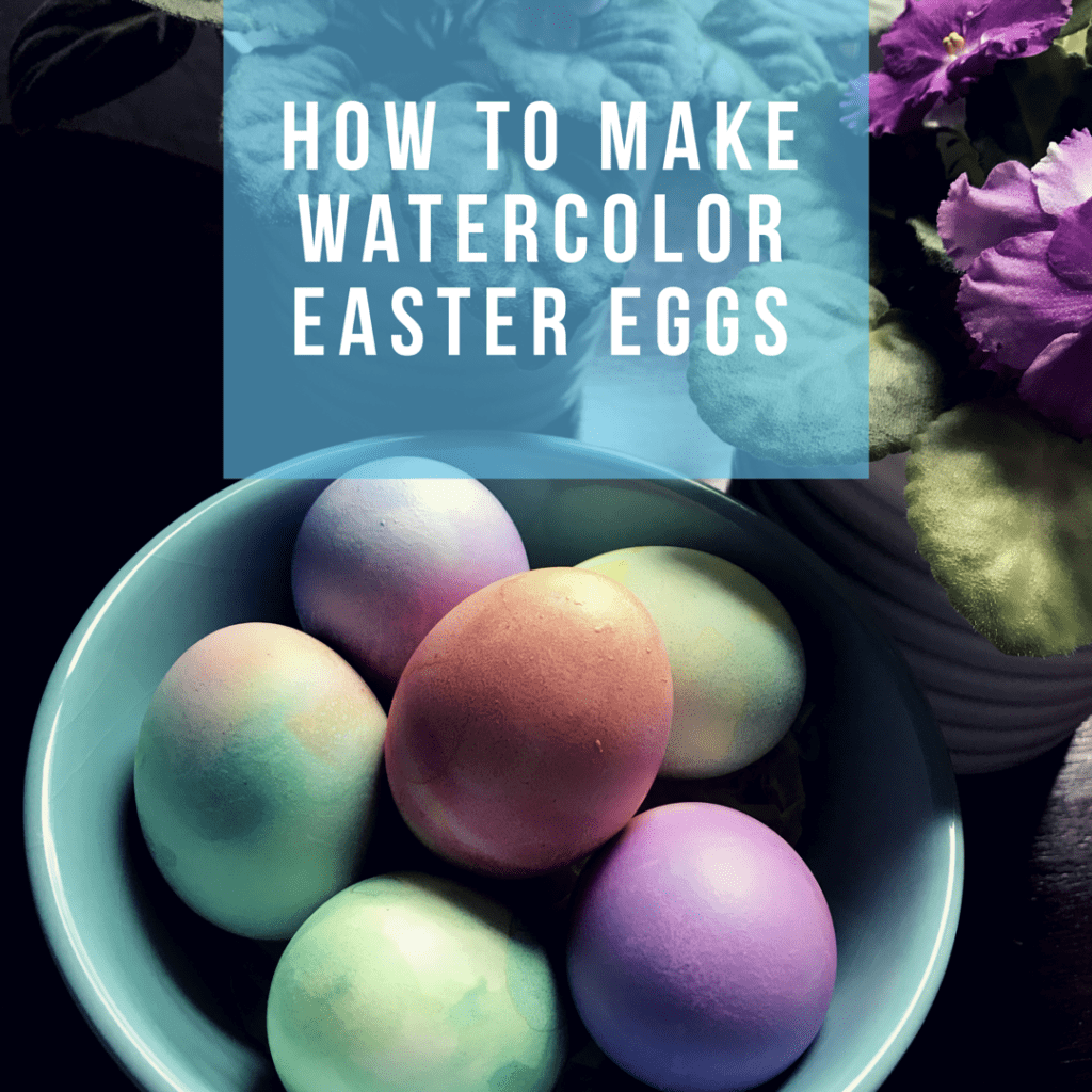 Watercolor effect Easter eggs DIY