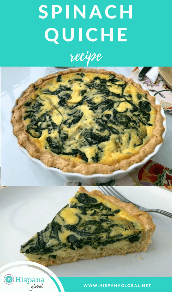 A spinach quiche is so versatile and a great vegetarian option. You can serve it at brunch, lunch or dinner. This recipe is not only delicious, but it's also super easy to make!