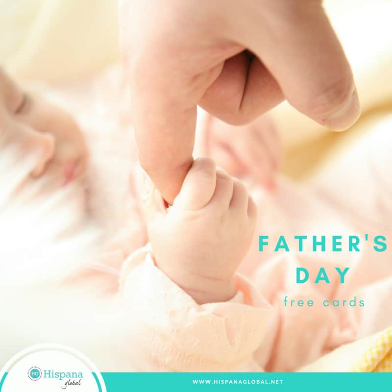 Free Father's day cards in English and Spanish