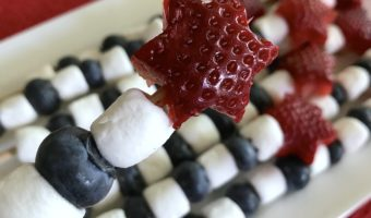 Delicious fourth of July fruit kebabs