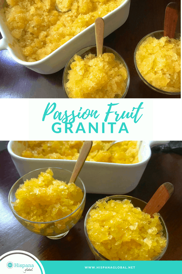 This passion fruit granita (or Italian ice) recipe is not only super refreshing, it is so yummy! It's also so easy to make.