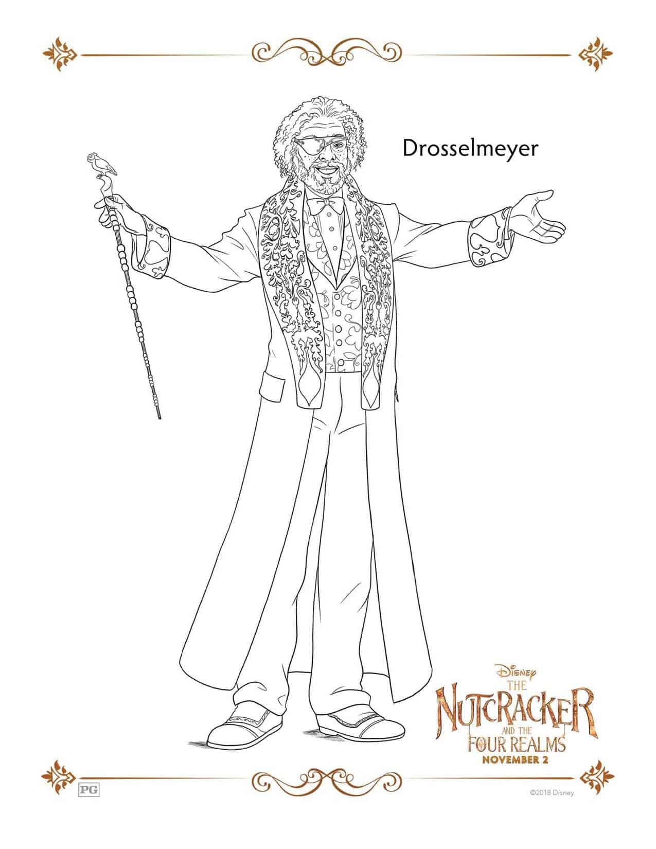The Nutcracker And The Four Realms Free Coloring Sheets ...