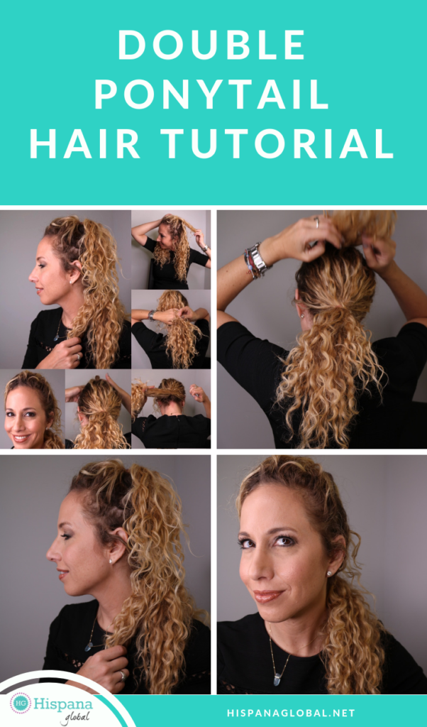 Learn how to do a double ponytail with this easy hair tutorial