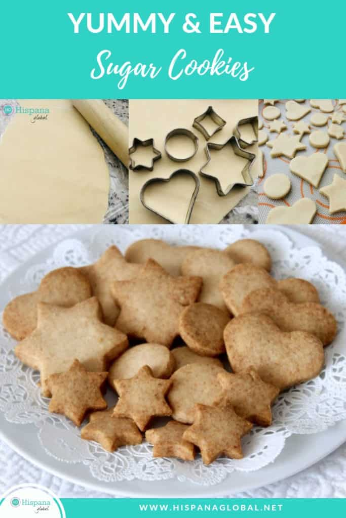 Easy Sugar Cookies Recipe with only 3 ingredients