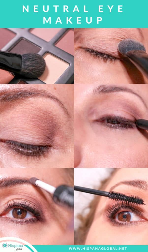 neutral eye makeup tutorial perfect for Valentine's Day makeup look