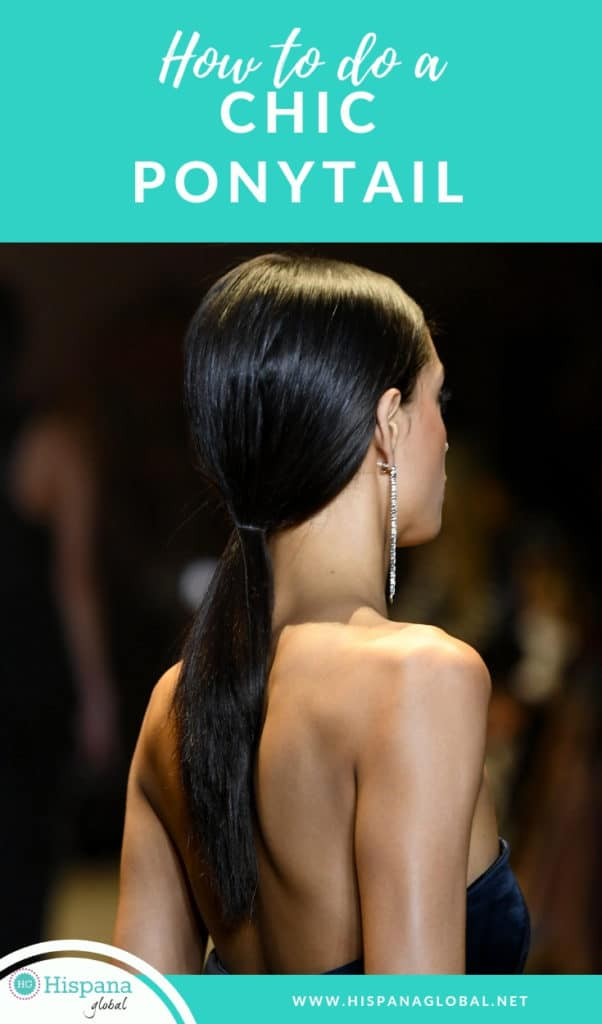Want to look like the models at New York Fashion Week? Here's how to style your hair in an ultra sleek low ponytail. It is so easy!
