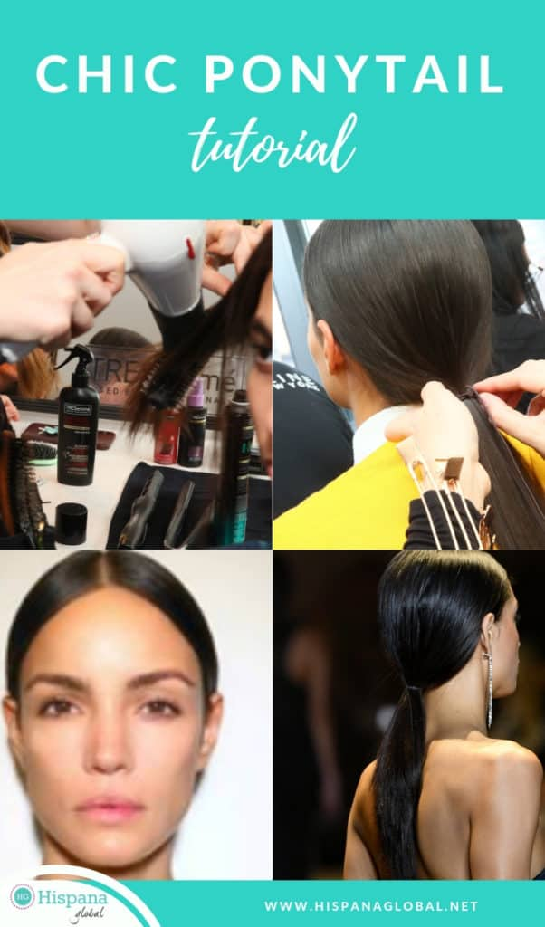 Want to look like the models at NYFW? Here's how to style your hair in an ultra sleek low ponytail. It is so easy!