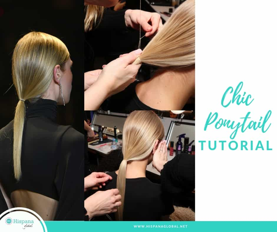 Want to look like the models at NYFW? Here's how to style your hair in an ultra sleek ponytail. It is so easy!