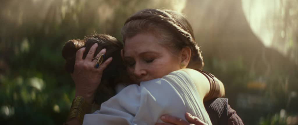 General Leia and Rey in Star Wars: Episode IX The Rise of Skywalker