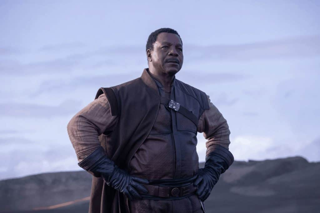 Character from The Mandalorian on Disney Plus
