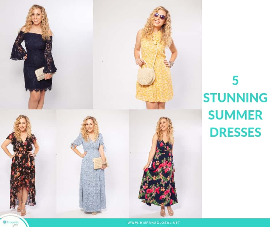 pictures of 5 cute summer dresses for women