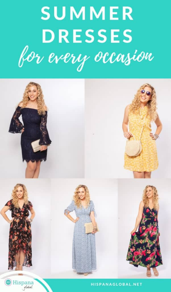 Don't know what to wear to all your summer events? Here are 5 dresses that will keep you fashionable no matter the occasion!