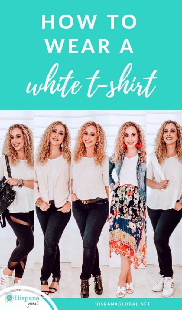 Need new ways to style your favorite white t-shirt? See how to wear a white t-shirt different ways from morning to night and everything in between. Get endless outfit ideas!