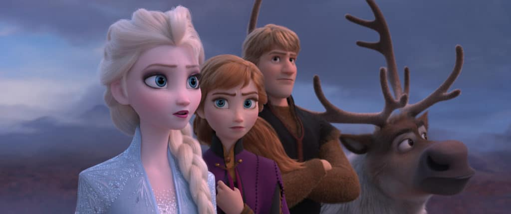 Elsa, Anna, Kristoff, and Sven in Frozen 2 trailer image