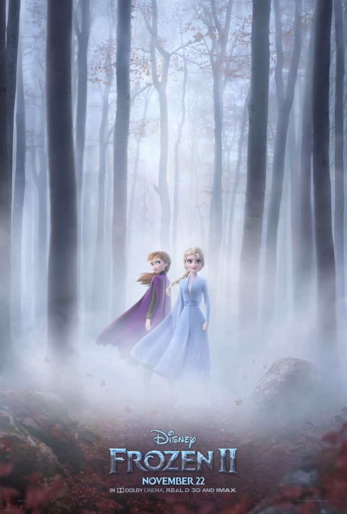 Frozen 2 new poster with Elsa and Anna