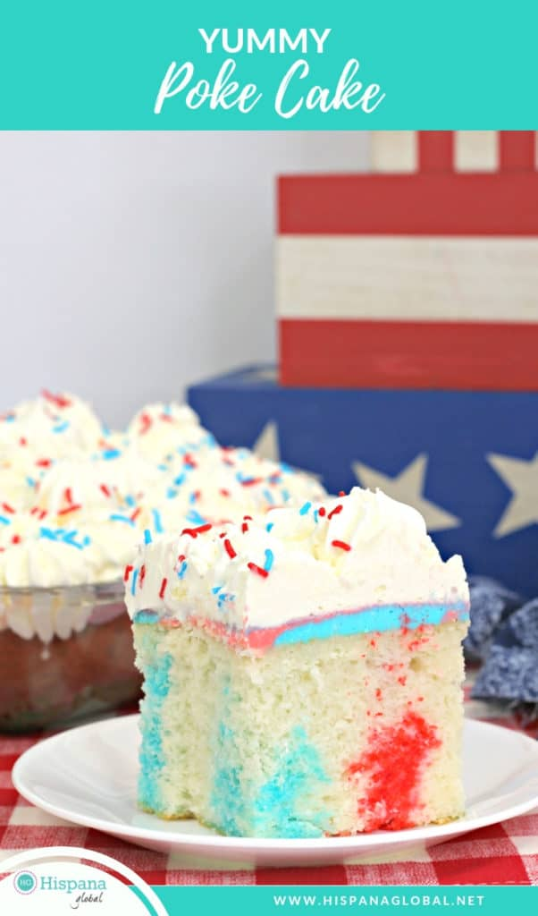 Easy and Yummy 4th of July Poke Cake Recipe