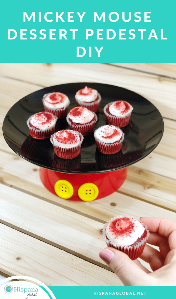 Mickey Mouse inspired DIY dessert pedestal