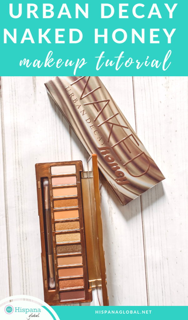 Urban Decay Naked Honey palette easy eye makeup tutorial