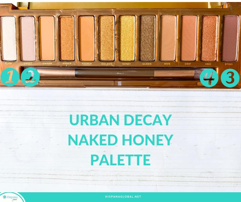 Learn how to use the Urban Decay Naked Honey palette with this easy eye makeup tutorial. Here are step by step instructions for a gorgeous and natural look.