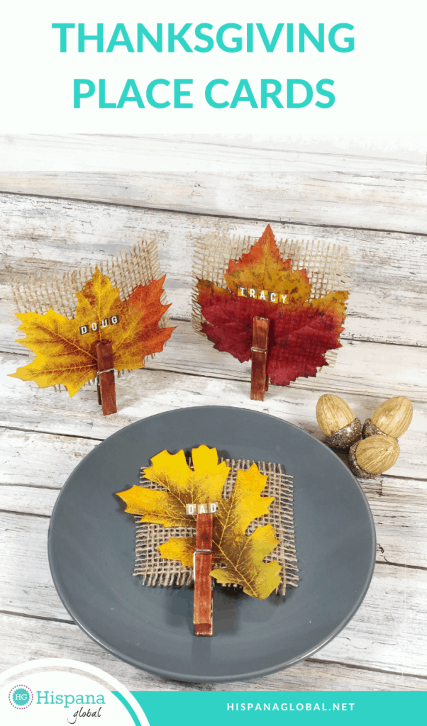 Looking for beautiful Thanksgiving place cards but need to stick to a budget? This DIY shows you how to make them with Dollar Store items.