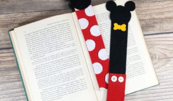 How to make Mickey and Minnie Mouse bookmarks DIY
