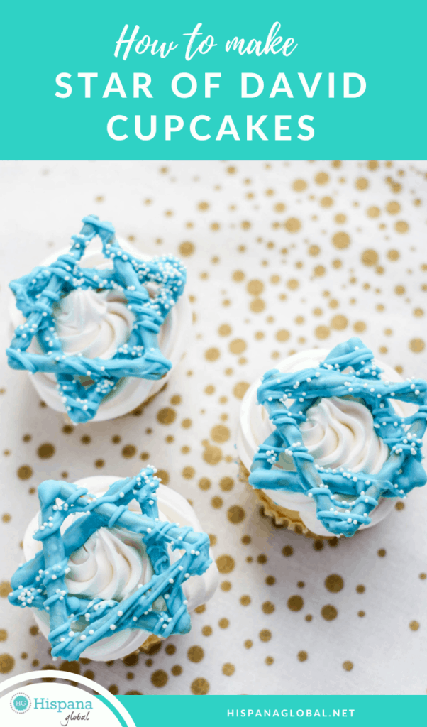 How to make Star of David cupcakes