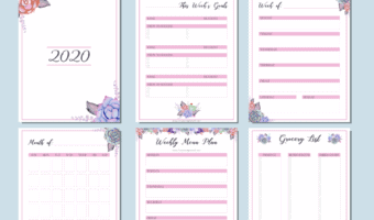 This free weekly planner will help you stay organized all year long thanks to its to-do list, weekly and monthly calendar, shopping list and menu planner.