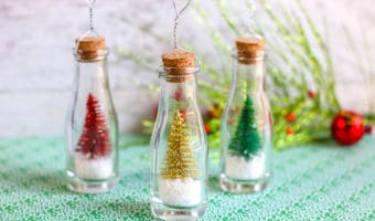 Christmas Tree Bottles Ornaments DIY