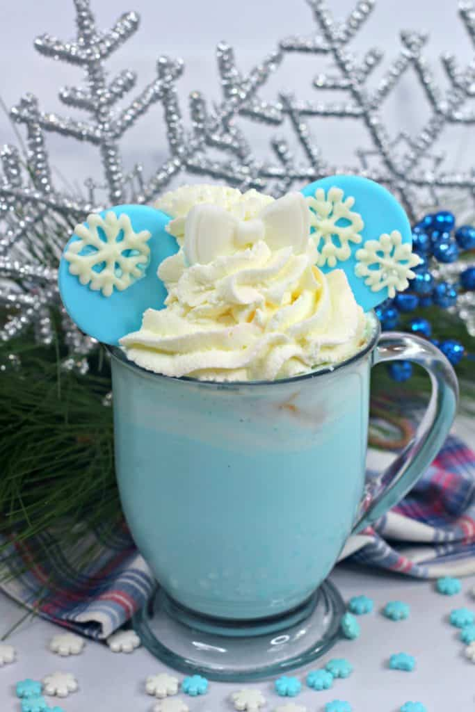 Before you step into the unknown or decide the cold never bothered you anyway, make this delicious Frozen 2-inspired hot chocolate to warm your soul.