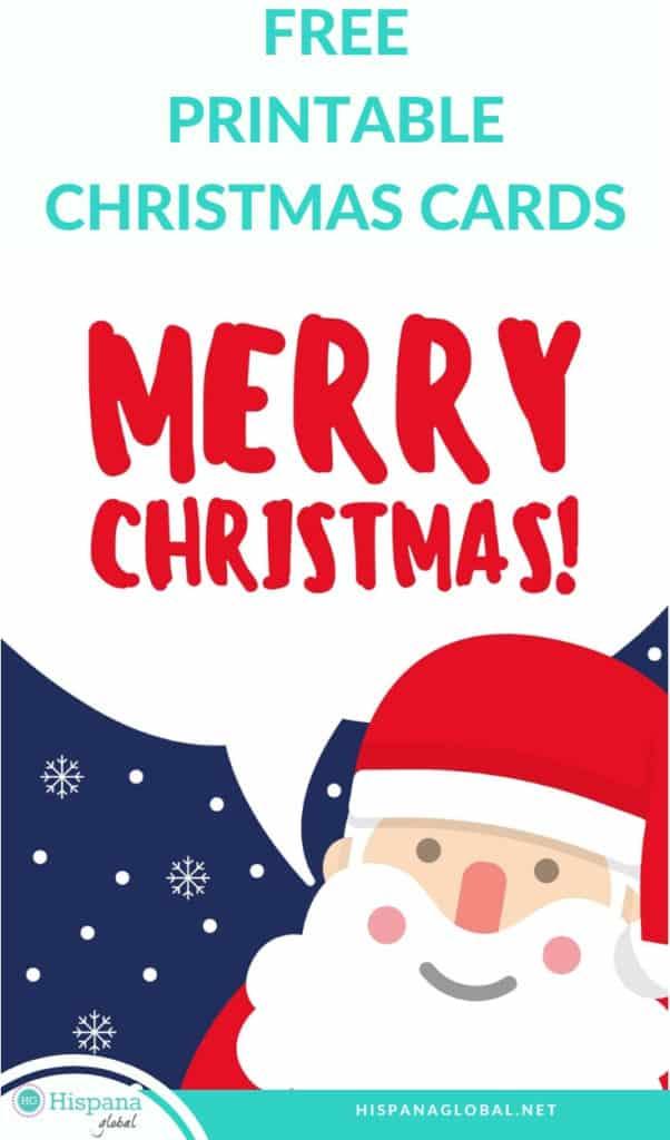 Printable free Christmas cards