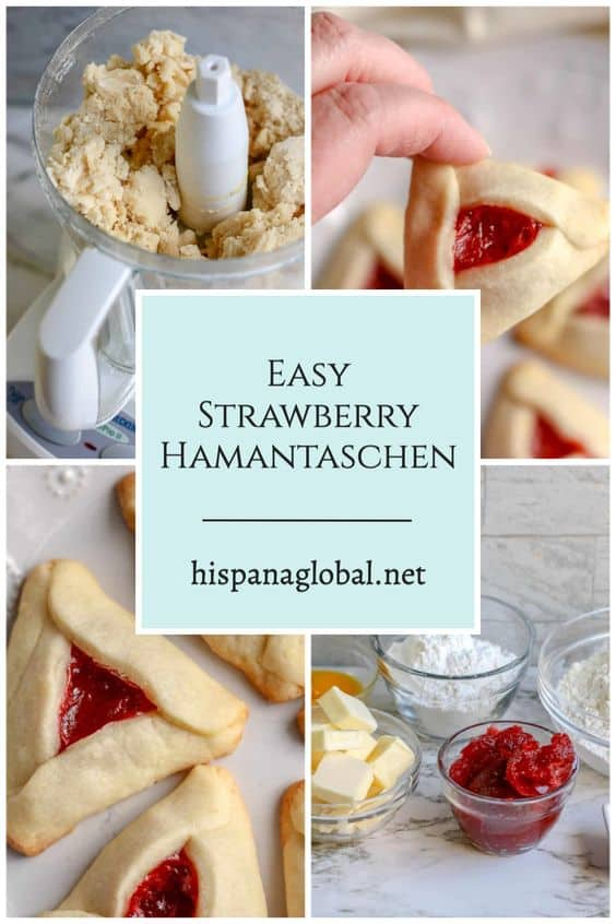 During the Jewish holiday of Purim, it's a tradition to serve cookies resembling Haman's ears. Here is an easy and delicious strawberry Hamantaschen recipe.
