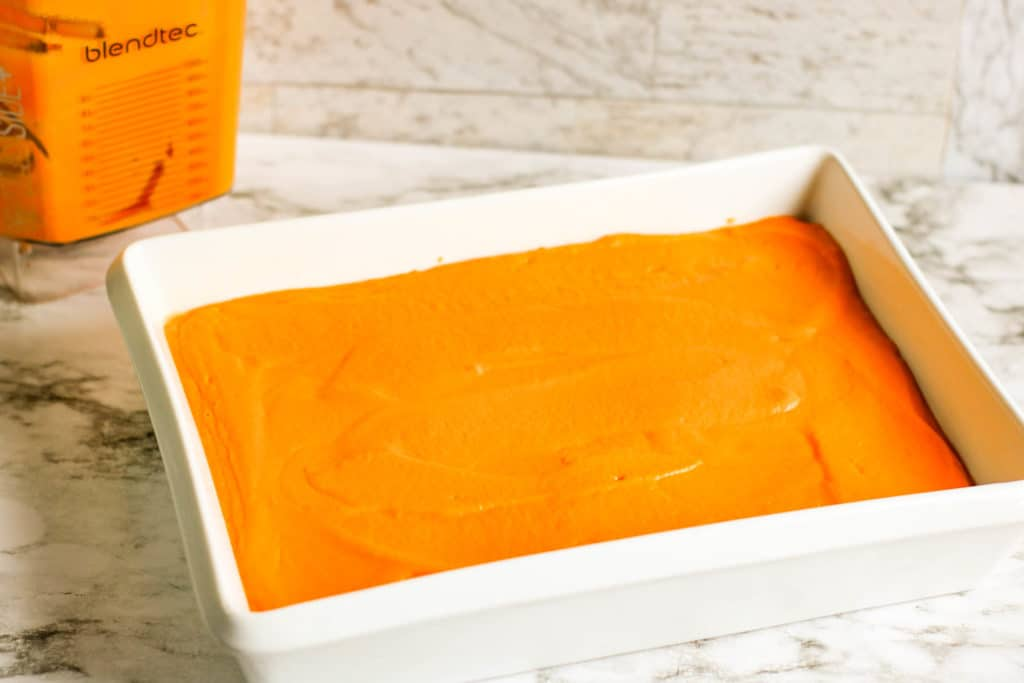 This easy carrot souffle is the perfect vegetarian side dish. Make it in just minutes if you have extra carrots on hand!