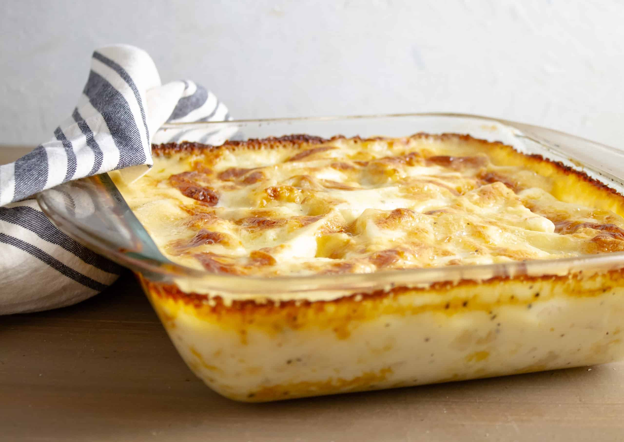 This cheese potato bake recipe is so good that I doubt you'll have leftovers. It's a great casserole dish that reheats well, too.