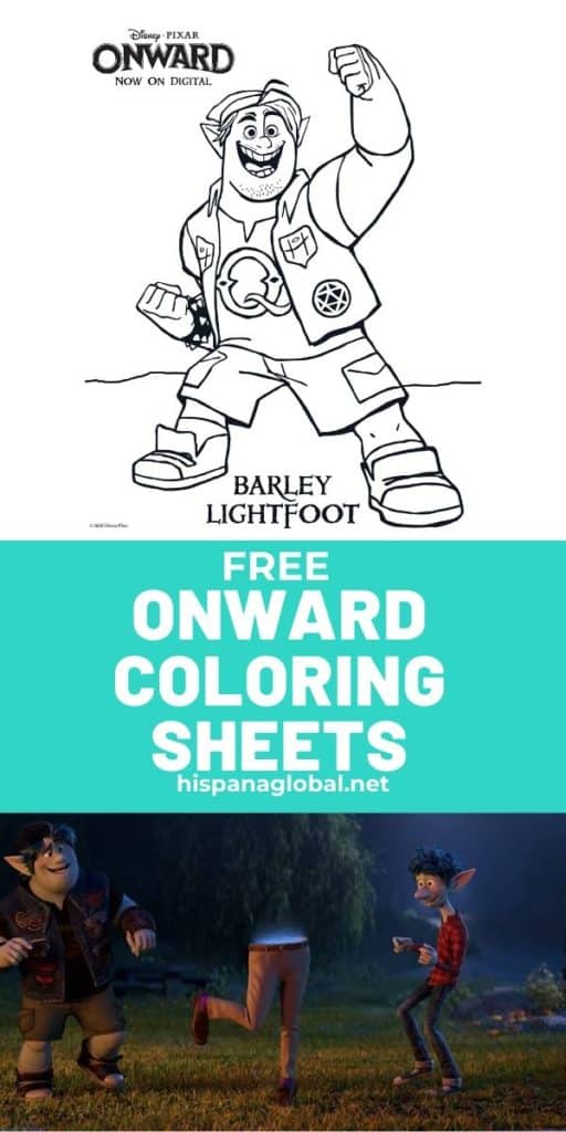 Free Onward coloring sheets to keep kids entertained at home
