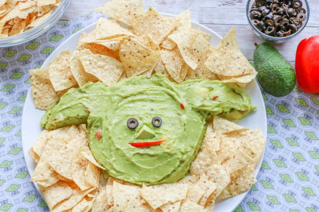 Star Wars fans love The Mandalorian and this Baby Yoda guacamole will totally delight them, whether for May 4th or any other day. Make this platter in just minutes!